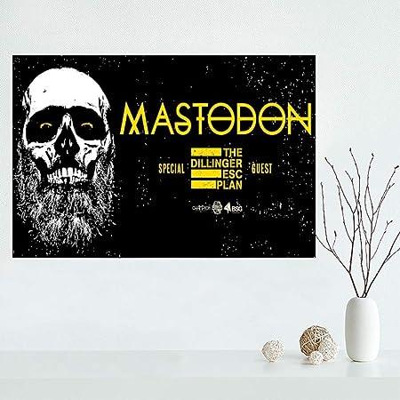 zxddzl Mastic Elefante Lienzo póster Tela Tela de Seda Arte ...