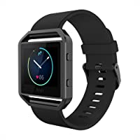 Simpeak Fitbit Blaze Bands Frame, Silicone Replacement Band Strap Stainless Steel Frame Case Fitbit Blaze Smart Fitness Watch