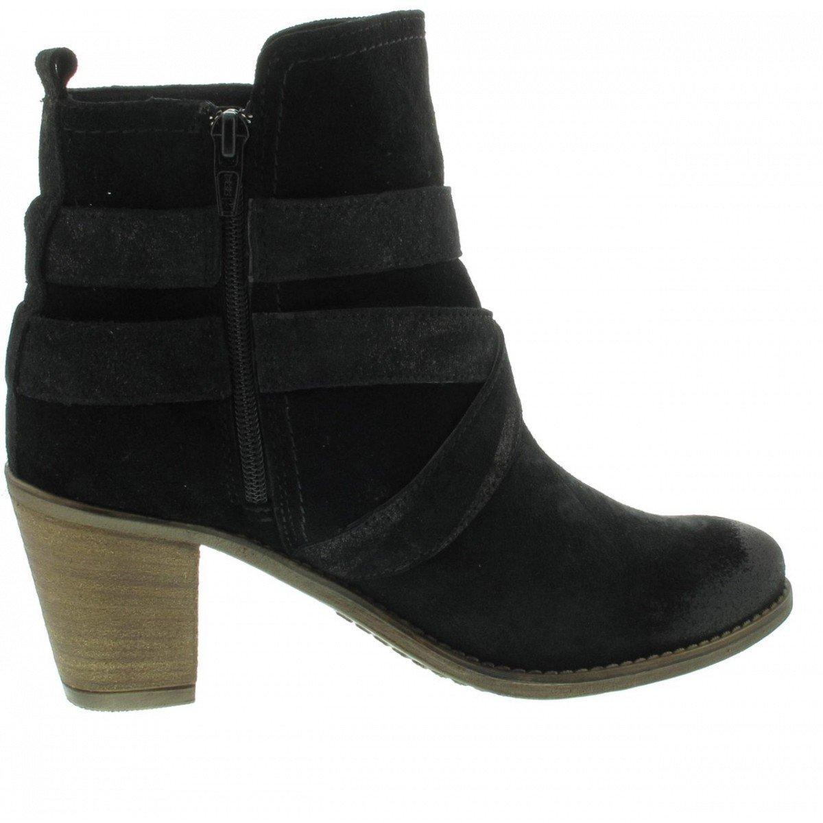 Tamaris Stiefelette, Farbe: schwarz - - Pewter schwarz - - Pewter 24a9e1