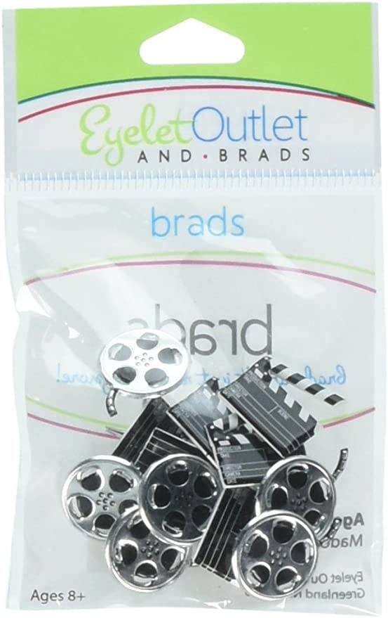 Eyelet Outlet Shape Brads 12 package-Wine