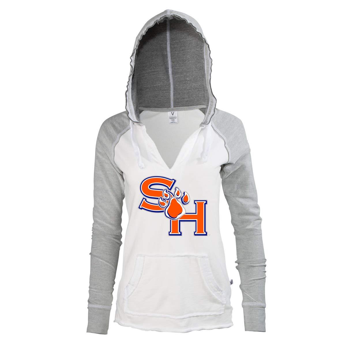 Official NCAA SHSU Bearkats Women's Hooded Fleece V-Neck Baseball Sweatshirt