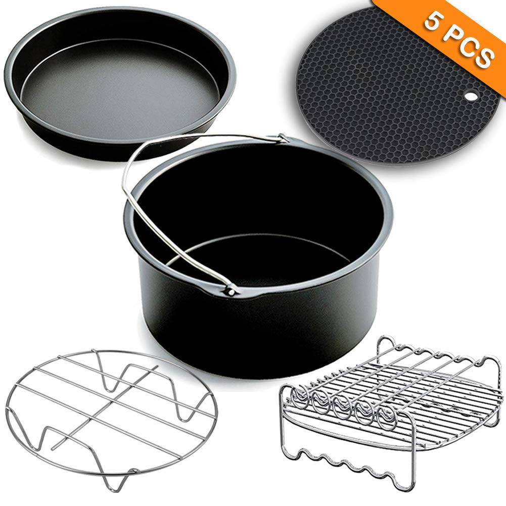 XL 8inch Air Fryer Accessories,Phillips Air Fryer Accessories and Gowise Air Fryer Accessories Fit all 3.7QT-4.3QT