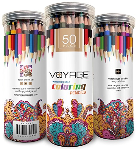 voyage-designs-colored-pencils-50-count-pre-sharpened-coloring-pencils-vibrant-colors-watercolor-pen