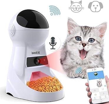 Iseebiz 3L Comedero Automatico para Gatos y Perros Con Cámara de 720p con 6 Dosis de Comida por Día: Amazon.es: Productos para mascotas