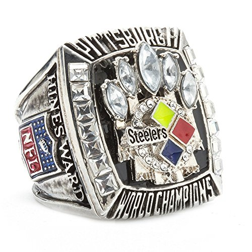 HTEGAE The Year 2005 Pittsburgh Steelers Championship Rings,Size 11 ()
