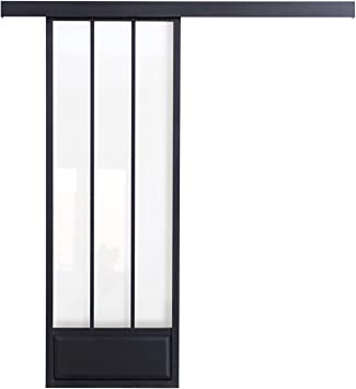 maykke Pamplona moderna puerta corredera de aluminio con paneles de cristal, 36