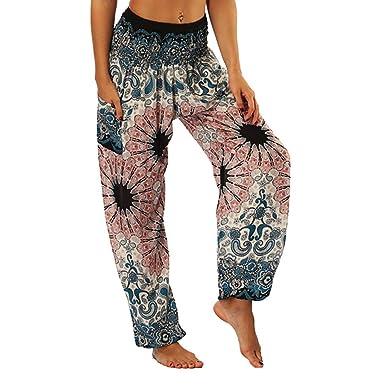 Damen Übergröße Elastische Taille Hose Blumen Gepunktet Druck Damen Haremshose