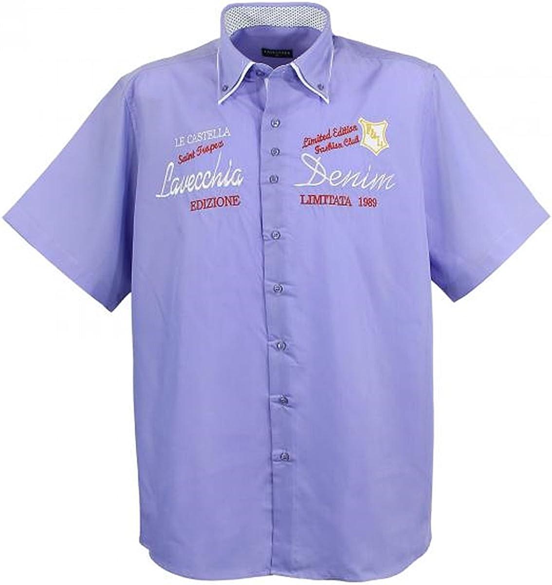 Tamaño grande. Camisa de manga corta Lavecchia 211 en color púrpura 7XL.: Amazon.es: Ropa y accesorios