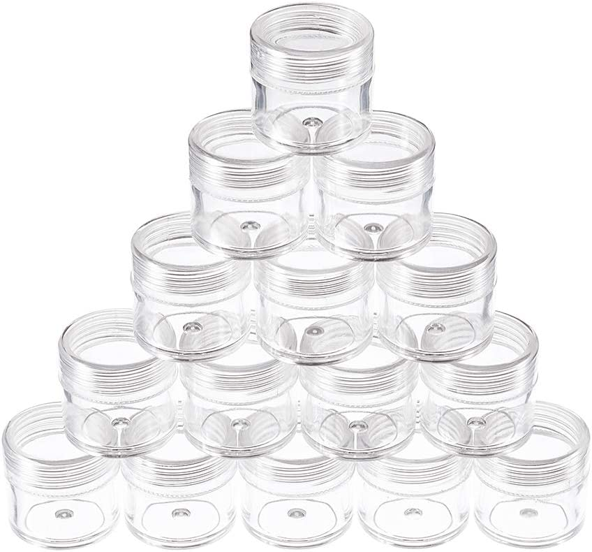 Craftdady 50pcs Transparent Clear Plastic Empty Storage Tubes Bead Container Set Test Bottles Organizers Boxes with Lid 2.16x0.59 55x15mm