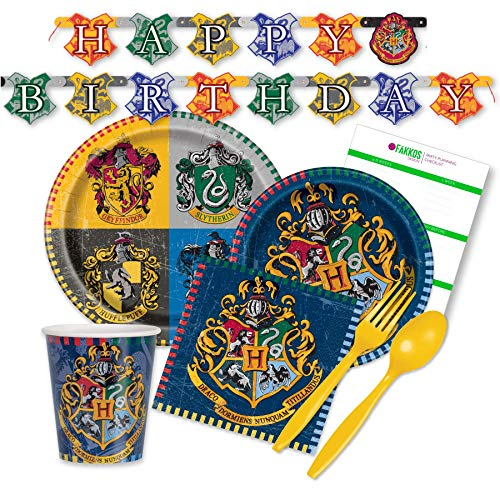 Paper Tableware Today™ Harry Potter Party Supplies for 16 Guests - Plates, Napkins, Cups, -