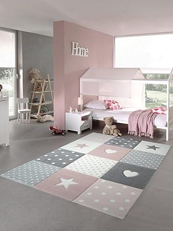 Babyzimmer Teppich Rot Beige Kinderzimmer Teppich Rosa Blau ...