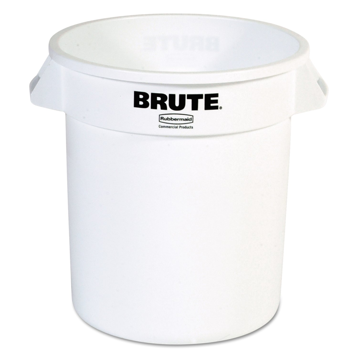 Rubbermaid Commercial RCP 2610 WHI Round Brute Container, Plastic, 10 gal, White