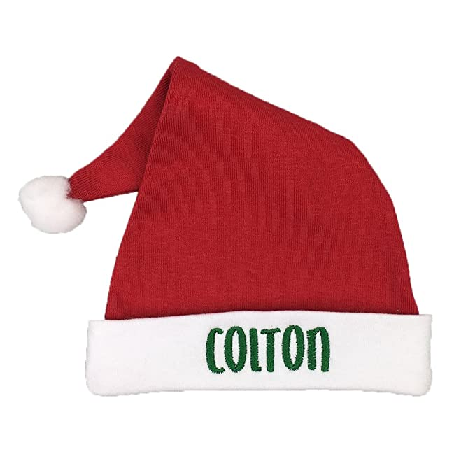 a9e22e30168 Amazon.com  Custom Baby Santa Hat for Newborn or Preemie - Preemie ...