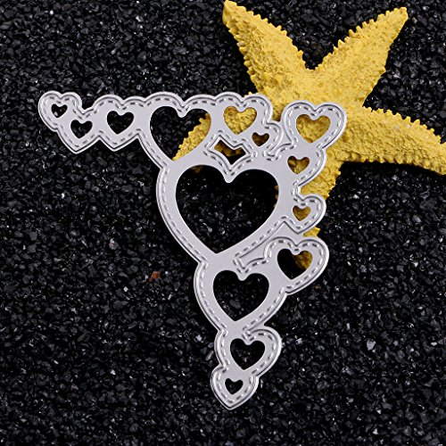 SCASTOE Lace Hearts Metal Cutting Dies Stencil For Scrapbooking Paper Cards