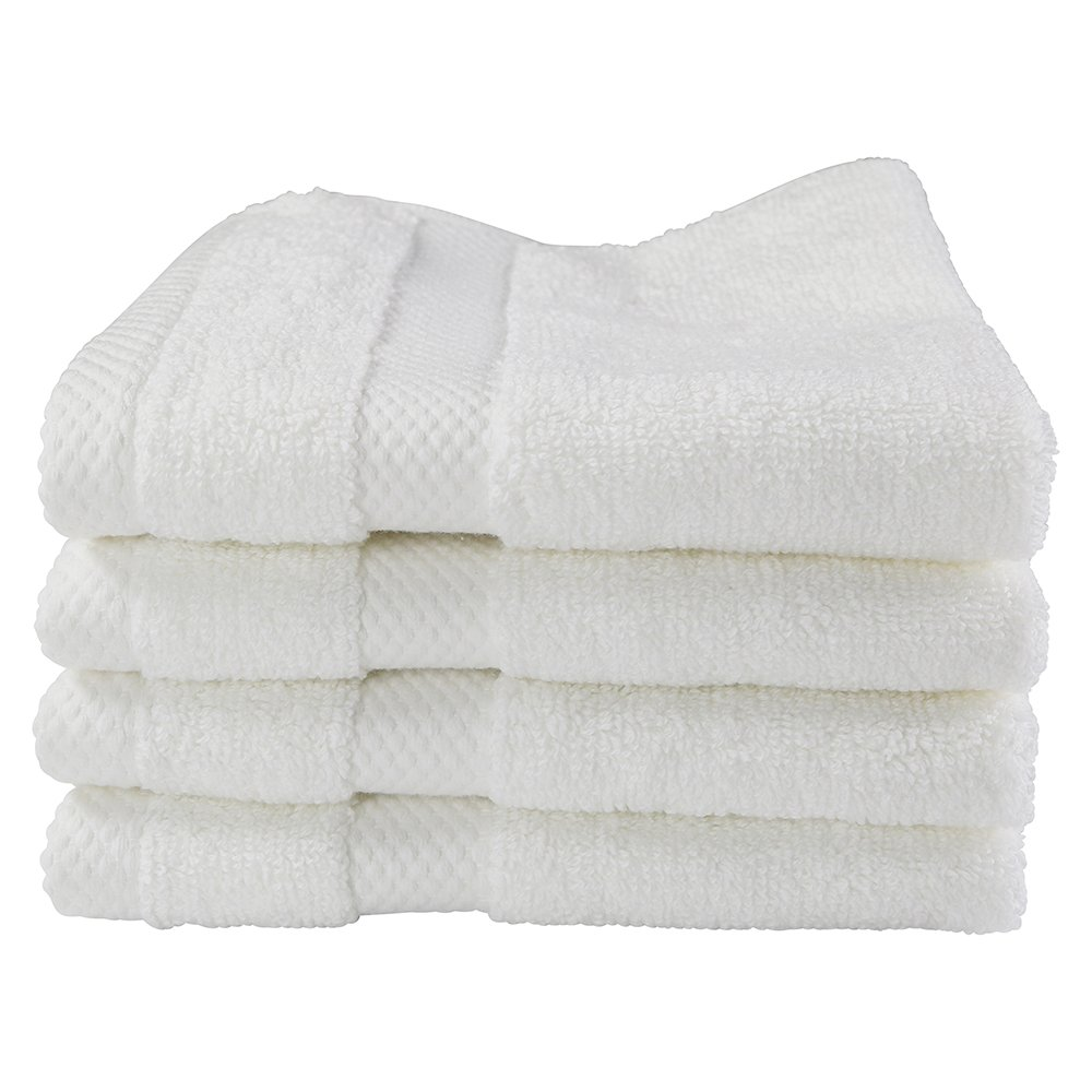 Black Label Collection by Sigmatex – Lanier Textiles WC1313220BL32 100% Cotton Oversized Luxury Hotel and Spa Quality Towel 4 Pack White (Washcloth 13 x 13)