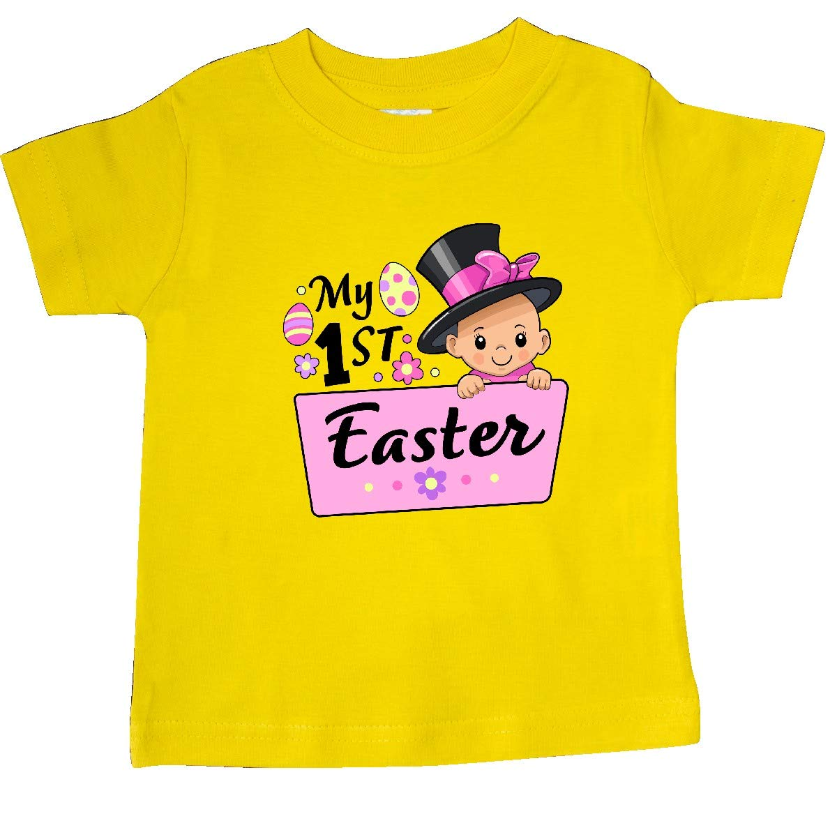 inktastic My First Easter Baby in Top Hat and Bow Baby T-Shirt