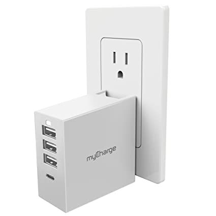 Amazon.com: myCharge power-base QC 4 puertos Cargador de ...
