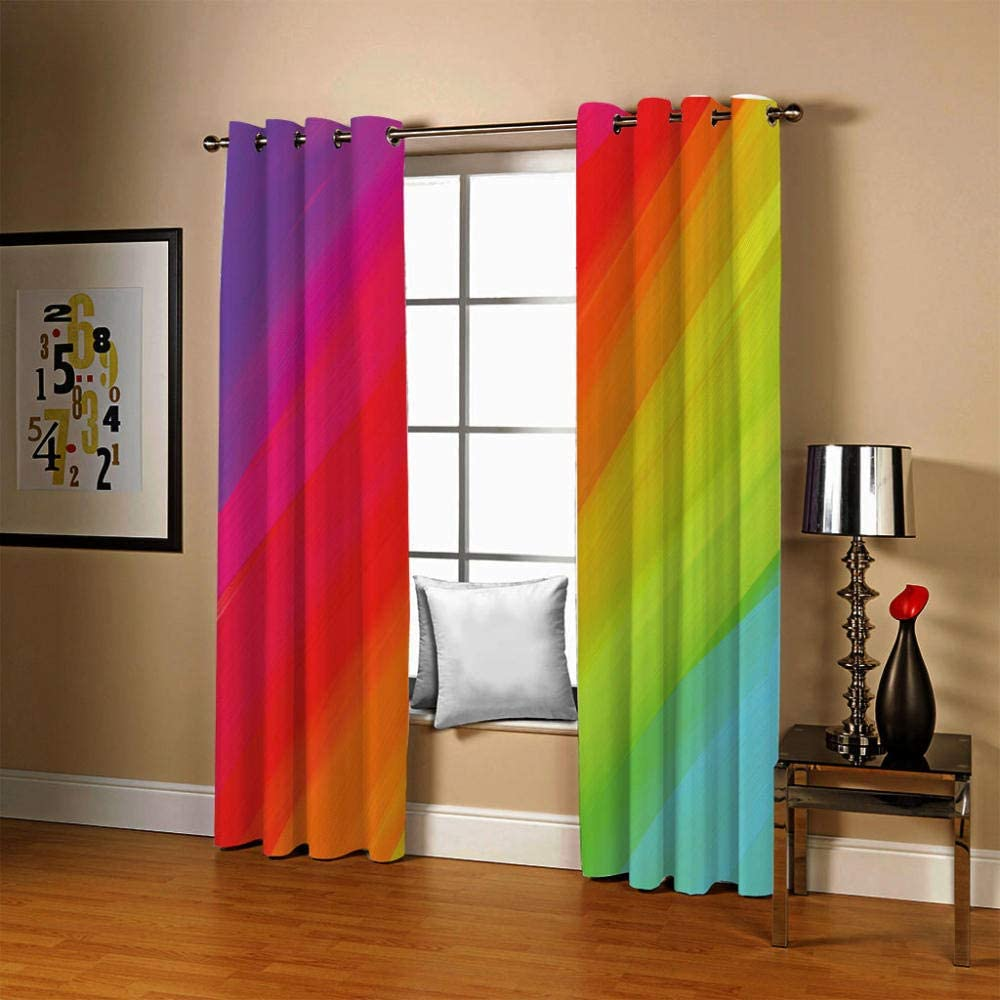 ZLQBed Blackout Curtains Horse Eyelet Super Soft Solid Thermal Insulated Ring Top Bedroom Curtains for Living Room Bedroom Nursery Kids Room 140 x 160 cm 2 Window Curtain Panels
