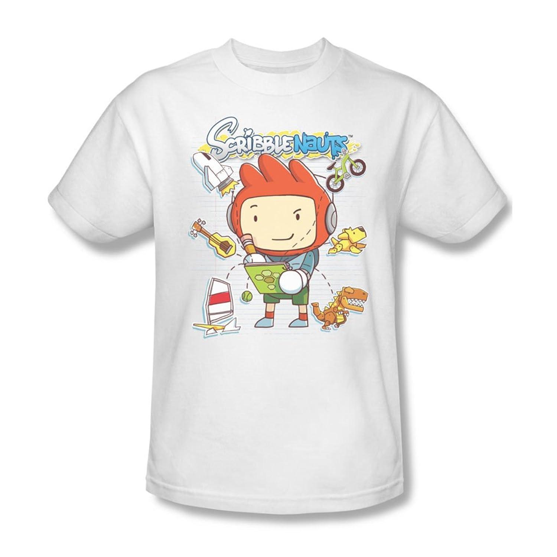 Scribblenauts - Mens Scribble Things T-Shirt In White