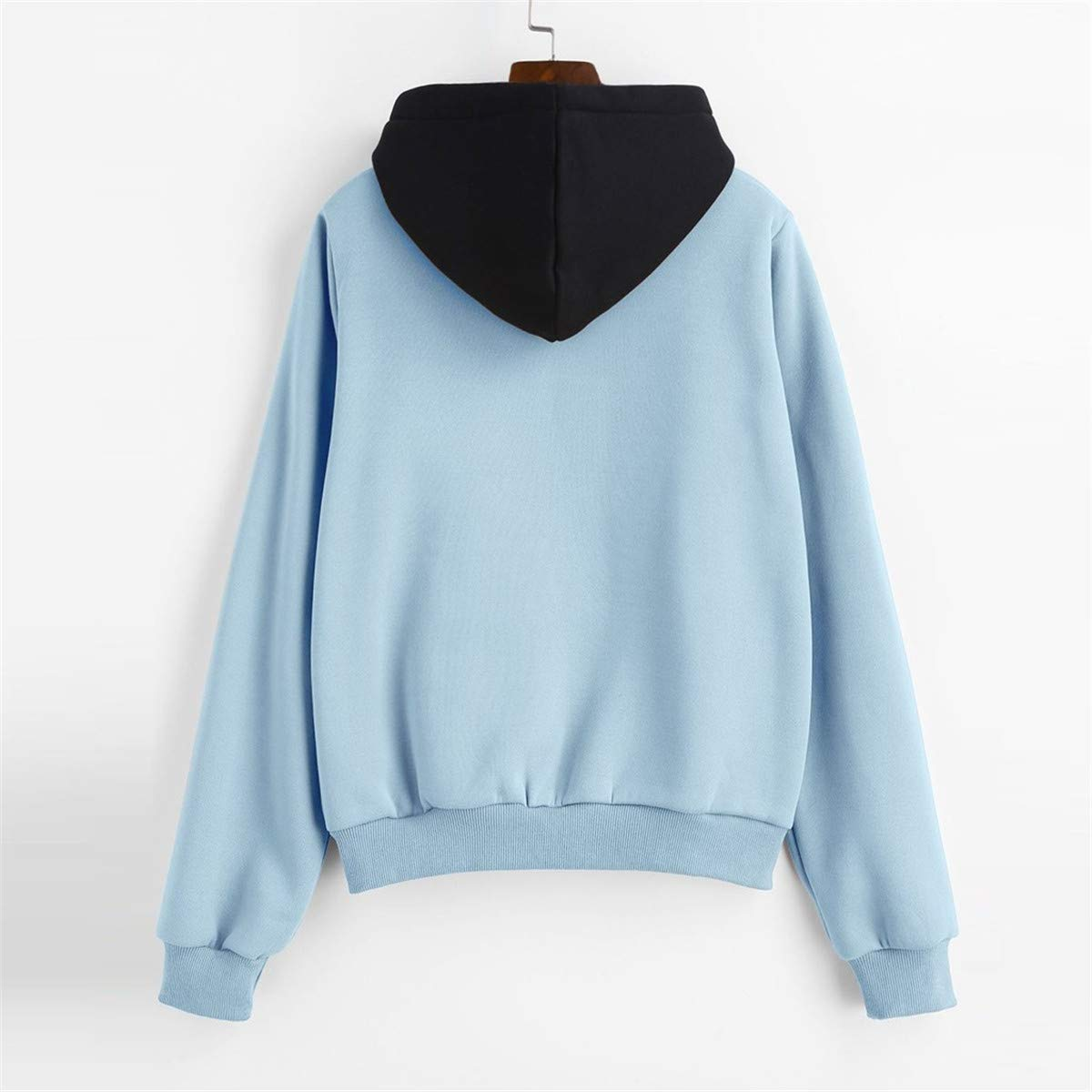 Thenxin Womens Long Sleeve Hoodie Sweatshirt Casual Drawstring Pullover Top with Front Pocket