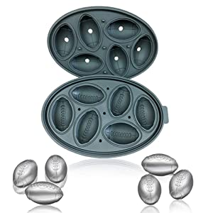 Premium Football Shape Silicone Candy Molds & Ice Cube Trays by Naranqa| Food Grade Silicone BPA FREE | Chocolate, Candy, Ice Cube and More (Football Shape-BLK, 1)