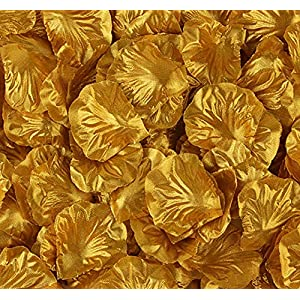 KALOR 1000pcs Silk Artificial Fabric Flower Rose Petals for Wedding Confetti Flower Girl Bridal Shower Hotel Home Party Valentine Day Flower Decor 10