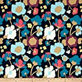 Art Gallery Fabrics Jersey Knit Dare Brave Fabric by the Yard, Bloomed Firm