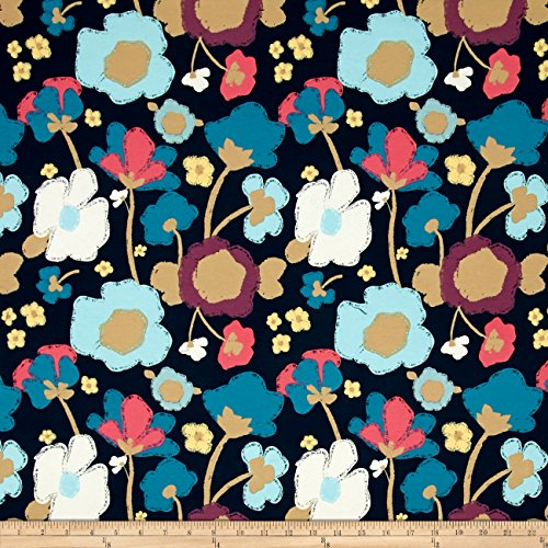 Art Gallery Fabrics Jersey Knit Dare Brave Fabric by the Yard, Bloomed Firm by Art Gallery Fabrics