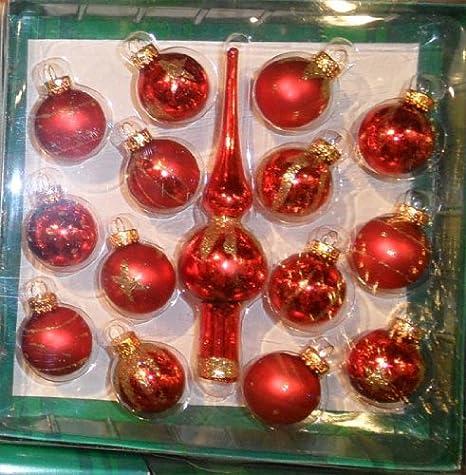 Christmas Ornament Sets.Red Mini Christmas Ornaments Sets Gg0323d