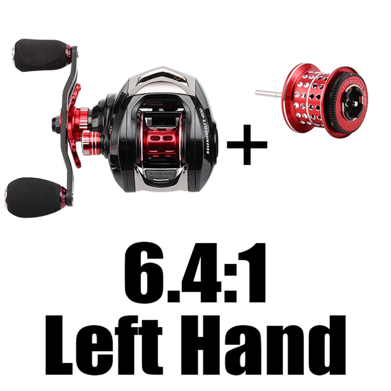 6.4 L with Spool 14 Baitcasting Fishing Reel 6.4 1 7.2 1 14Bb 7.5Kg Carbon Fiber 169G Ultra-Light Fishing Wheel Dual Brake Systems