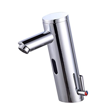 Grifo con sensor automático de movimiento de Gangang, para lavamanos y bañera, con infrarrojos
