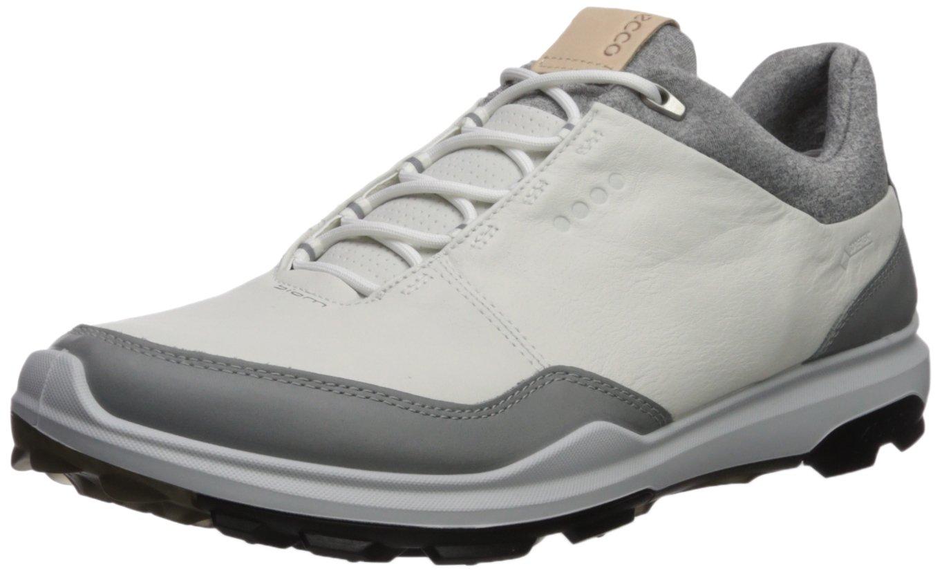 ECCO Men's Biom Hybrid 3 Gore-Tex Golf Shoe, White/Black Yak Leather, 7 M US by ECCO