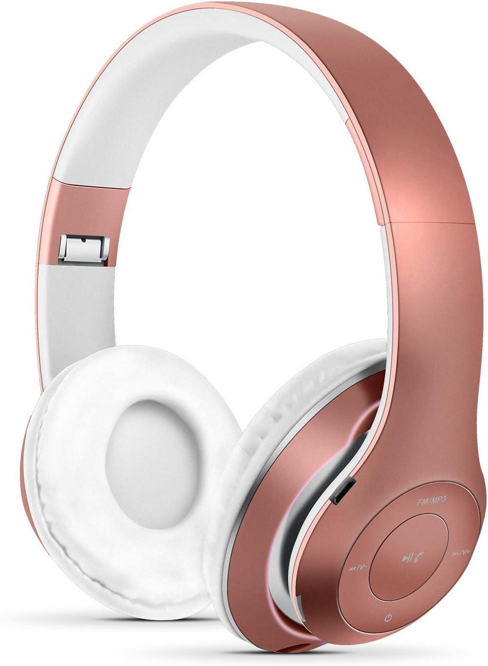 Auriculares Inalámbricos Bluetooth, Wireless Headphones Plegables con Micrófono, Estéreo Auriculares de Diadema para Smartphones, PC, TV, Tableta: Amazon.es: Electrónica