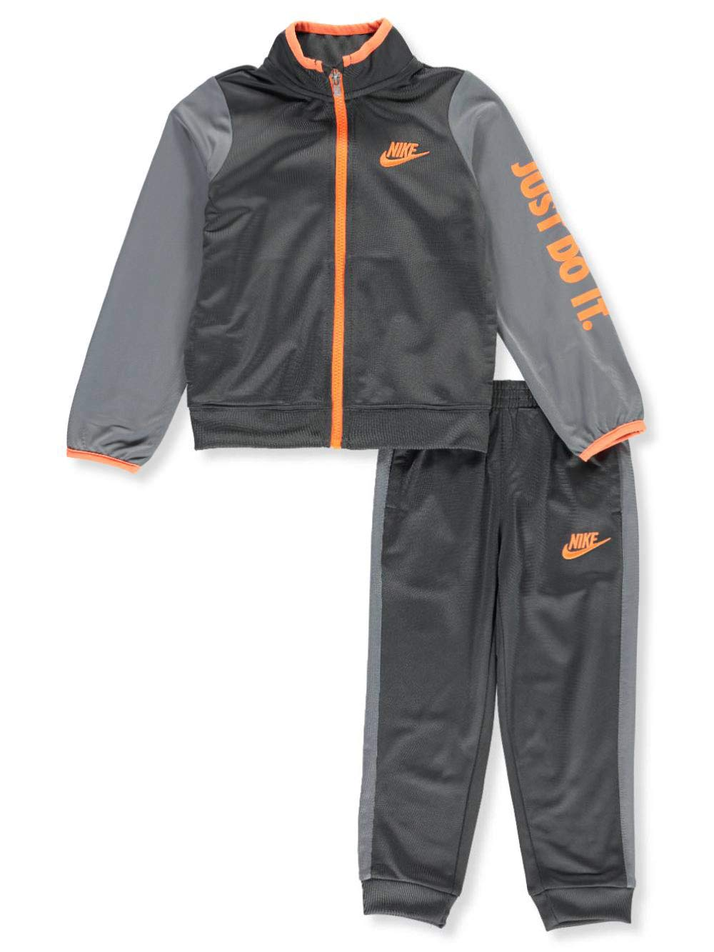NIKE Boy's Futura Tricot Jacket and Pants Set (Anthracite (86C626-693) /Max Orange/Anthracite, 7)