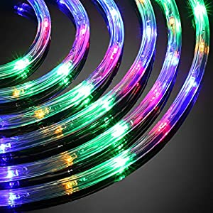 LE 33ft 240 LEDs Rope String Lights Multicolor, Waterproof, Indoor Outdoor LED Rope Lights for Garden Patio Wedding Party Thanksgiving (A Power Adaptor Included)