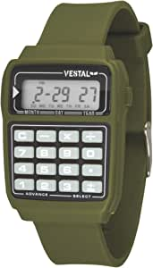 Vestal Men's DAT011 Datamat Glow-in-the-Dark Buttons Clear Calculator Watch