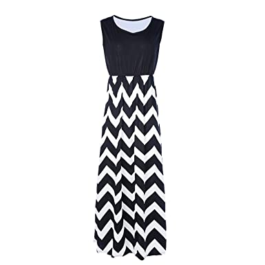 215964928fdd Luck Man Summer Women Maxi Dress High Waist Striped Print Sundress Sexy  Feminine Long Party Dresss