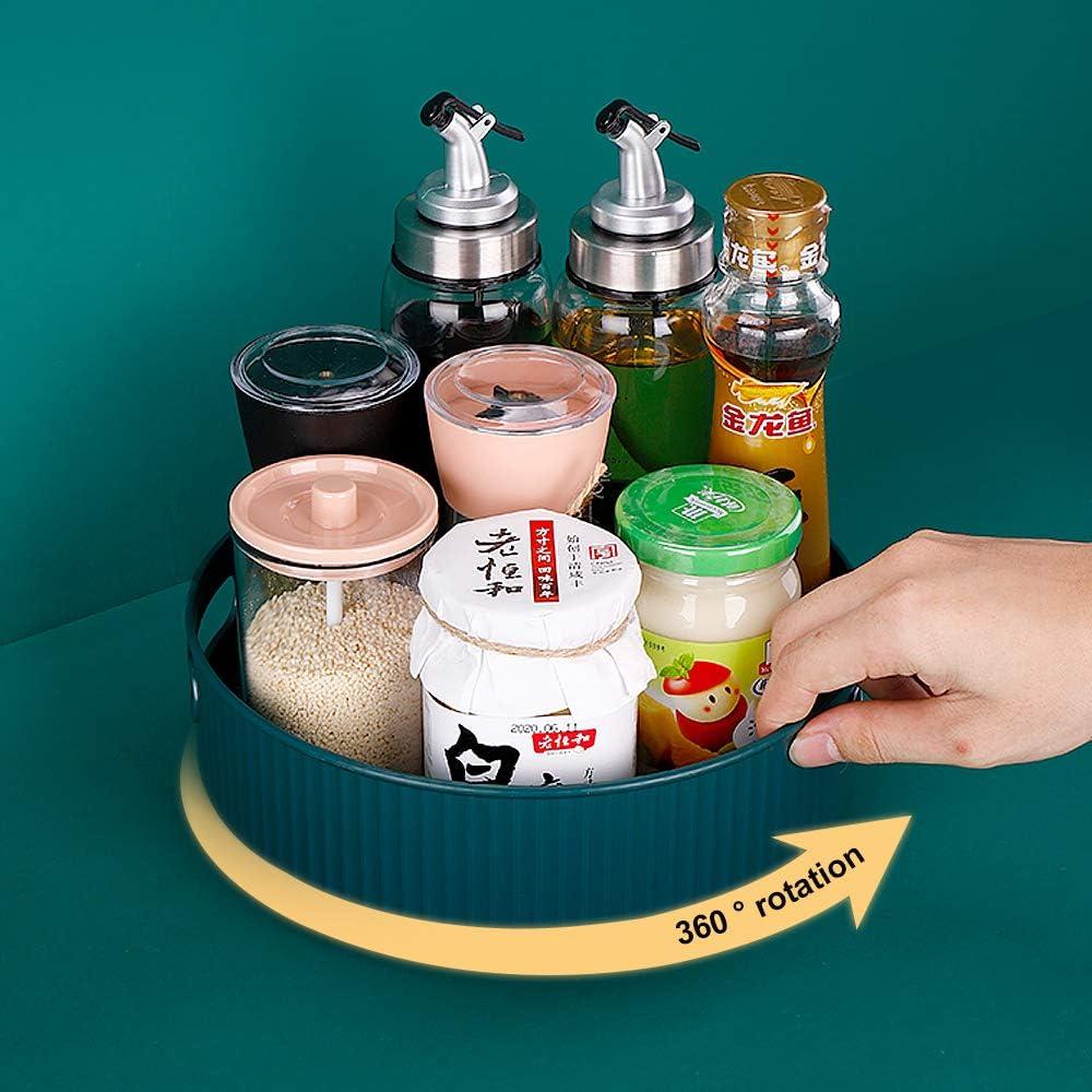 WORTHBUY Non-Skid Under-Sink Pantry Cabinet Kitchen Organizer, Lazy Susan Turntable Food Storage Container, 9