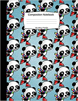 Descargar Skating Panda Composition Notebook: Cute Cartoon Animal Graph Paper Book For Girls, Boys And Teens, For Students And Teachers, For School And Work, Journaling And Writing Notes Epub