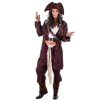 Fun Shack Marrón El Capitán Pirata Disfraz para Hombres - M ...
