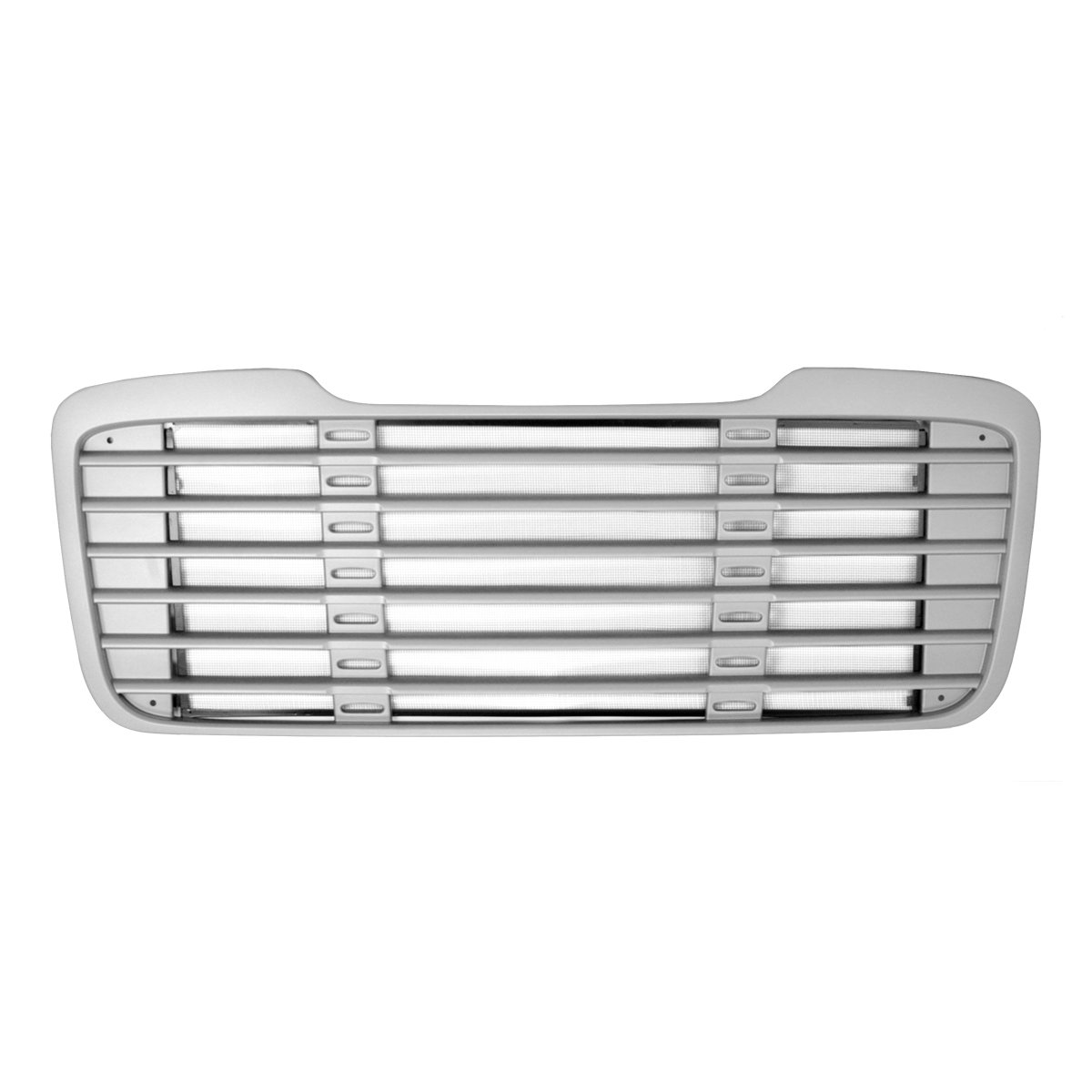 Grand General 89306 Silver Painted Plastic Grille with Black Steel Bug Screen for Freightliner M2