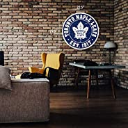 """Toronto Maple Leafs Wall Sign - 22"""" Round Distr"""