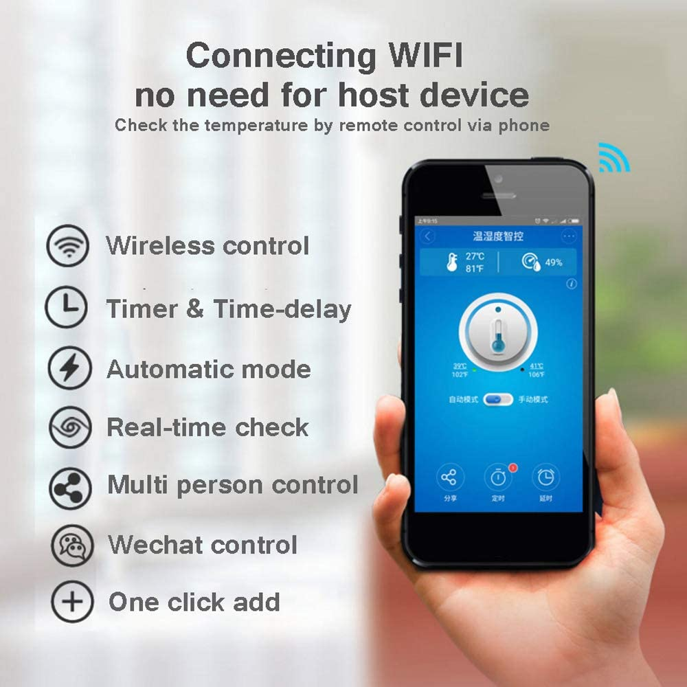 Docooler Sonoff TH10 WiFi Smart Switch Mando a Distancia para ...