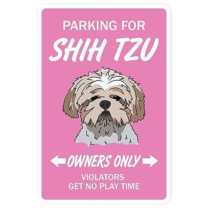 Amazoncom Shih Tzu Sign Dog Pet Parking Signs Kennel Breeder