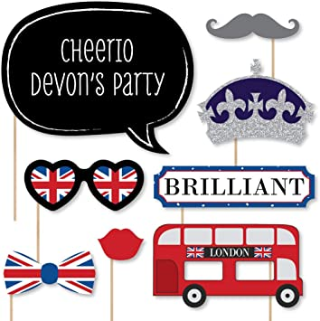 British Photo Booth Props 15 Pack
