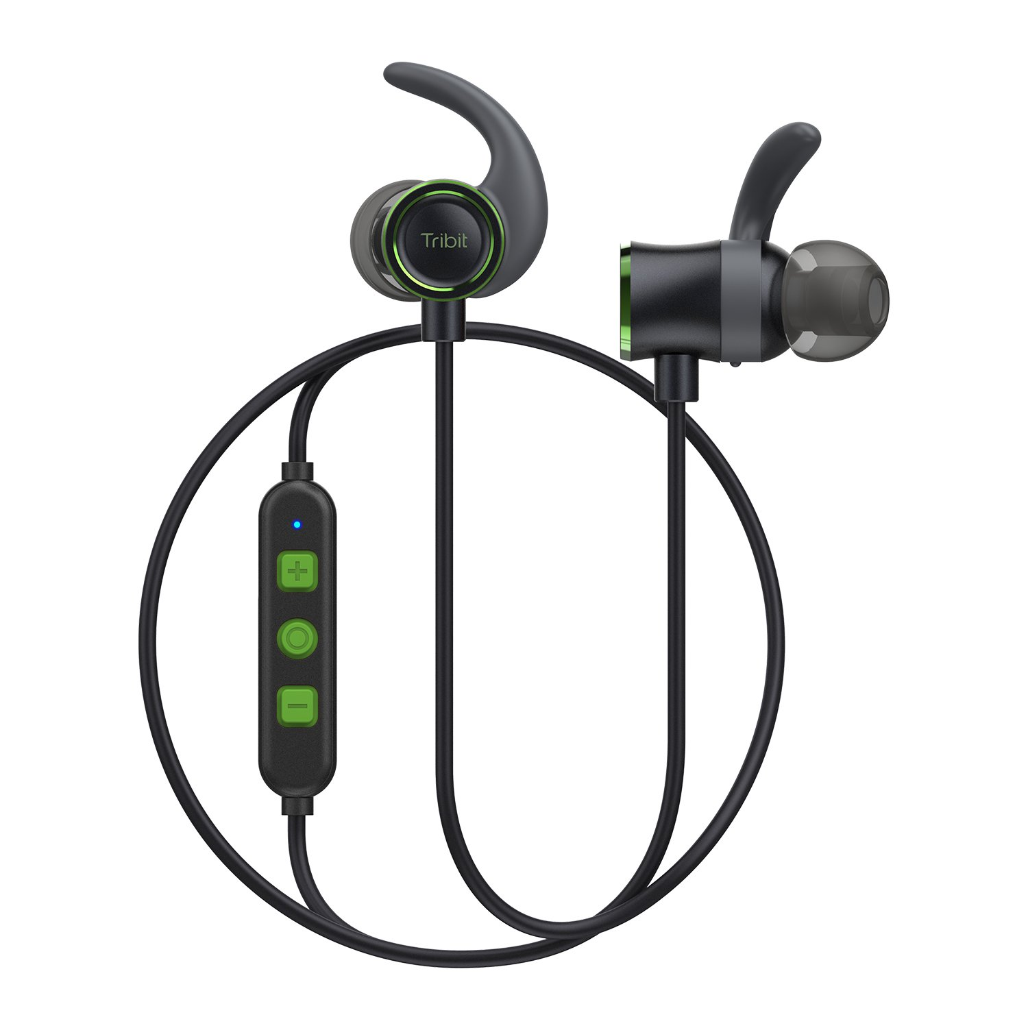 Tribit Wireless Bluetooth Earbuds - Running Headphones In Ear, Rock-Solid Bass, Up to 10 Hrs Playtime, IPX5 Waterproof, Built-in Mic, Magnetic - Workout Headphones, Forest Green by Tribit