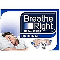 Breathe Right Snoring Congestion Relief Nasal Strips, Small/Medium, Original, 30 Strips
