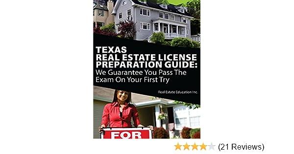 Amazon Texas Real Estate License Preparation Guide We