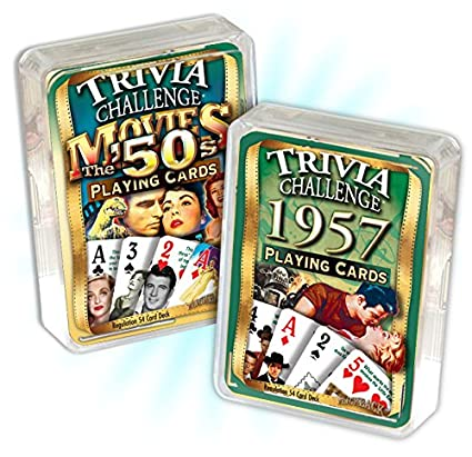 Amazon.com: 1957 Trivia Juego de cartas & 1950 de película ...