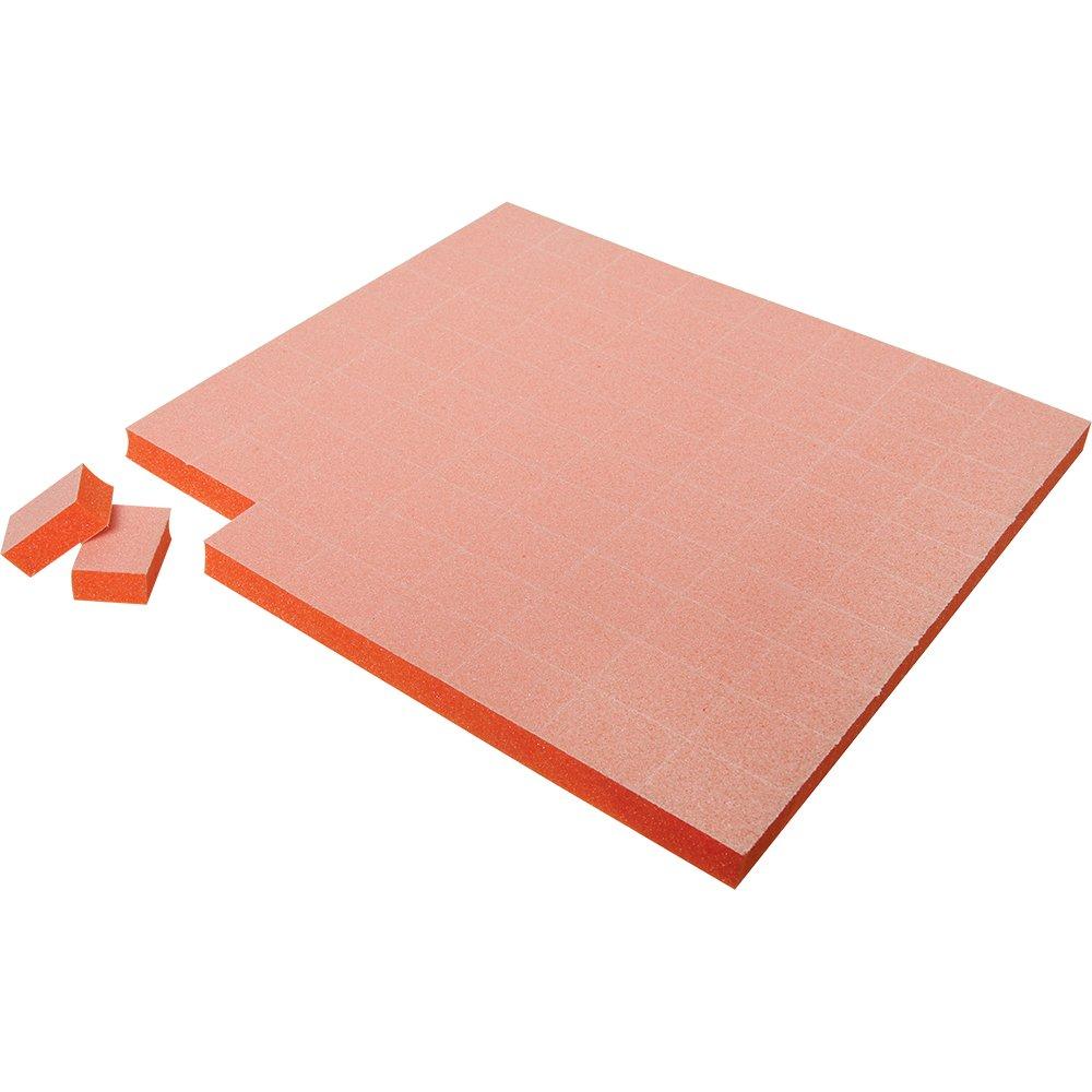 Amazon.com : For Pro Pre-Cut Mini Block 100/180, White On Orange ...